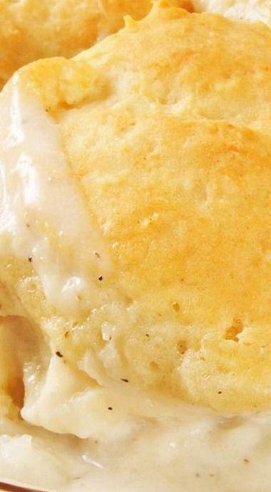 Creamy Chicken & Biscuits Casserole