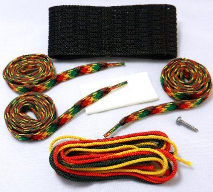 "Amazon.com : Stick Doctor® Lacrosse Hard Mesh Stringing Kit - ""Rasta Two"" : Lacrosse Hard Diamond Mesh Stringing Kit : Sports & Outdoors"