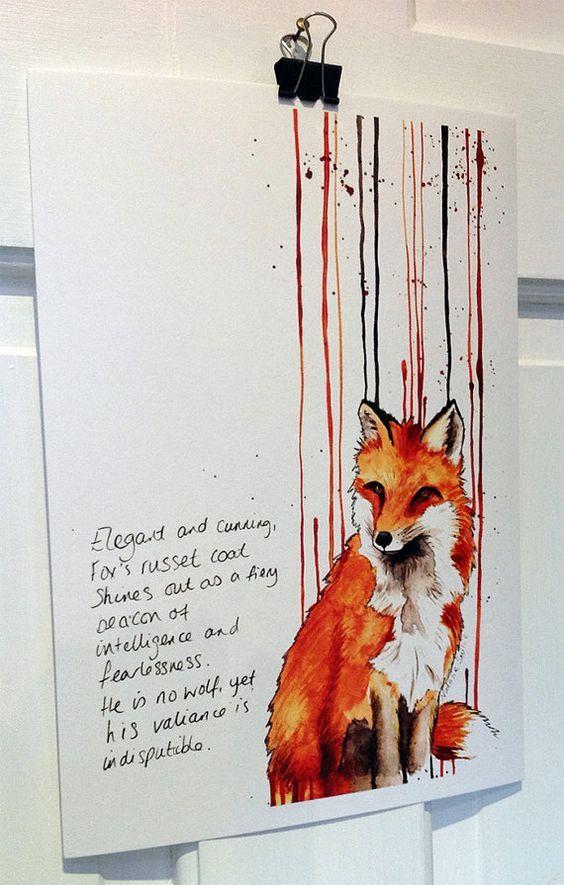 The Cunning Fox Print:
