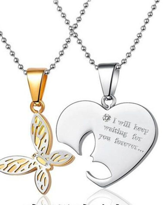 New Jewelry 925 Silver Charm Butterfly Pendant Necklace Choker Chain Lover Gift