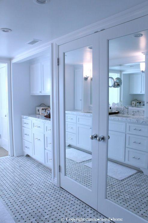 Mirrored Closet Doors Organized Closets Pinterest And