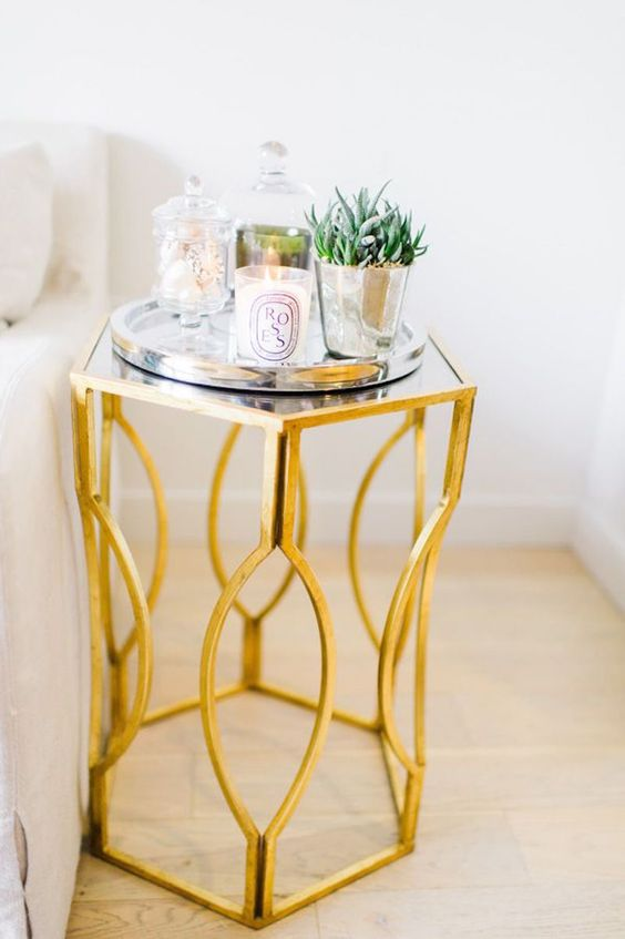 Metallic Gold Side Table
