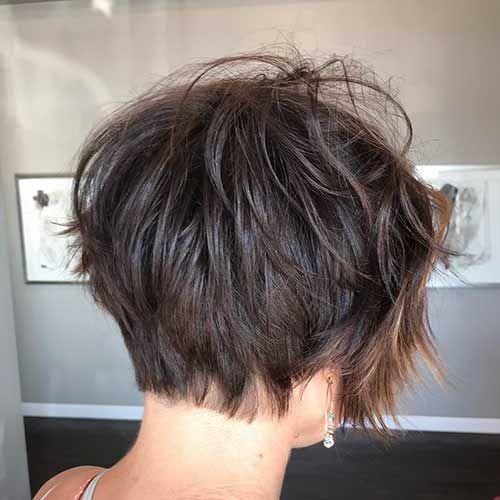 30 Rear View Of The Short Haircuts Kurzhaarschnitte Frisuren