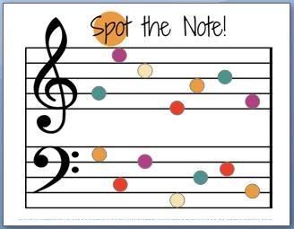 Fun note name worksheet. Website also has TONS of fun music teaching activities. Prints free!