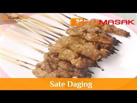 Resepi Sate Daging Try Masak Icookasia Youtube Di 2020 Daging Resep