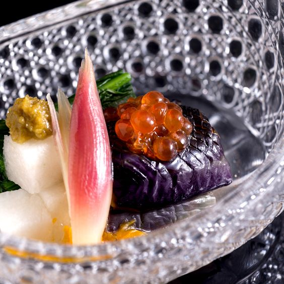 Tochigi eggplant with tosa vinegar jelly