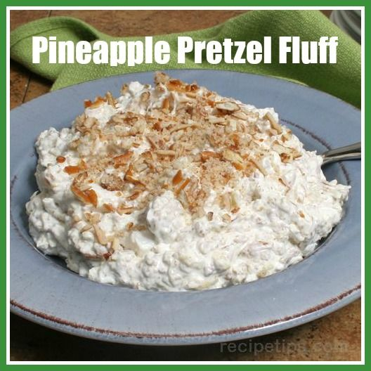 This Pineapple Pretzel Fluff recipe is a Thanksgiving staple in our house. We serve it as a side dish, but it could be a dessert too.