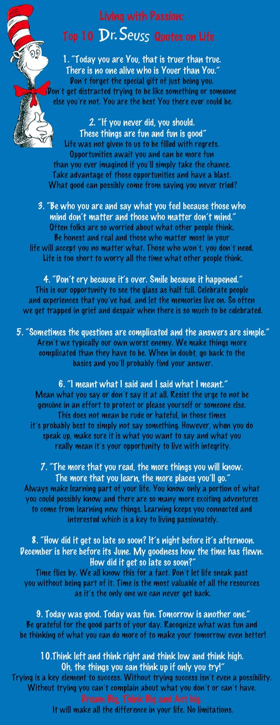 Dr. Seuss Quotes on Life
