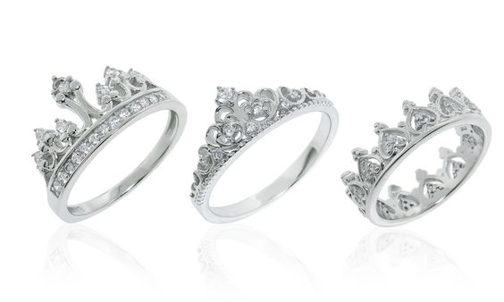 Sterling Silver Royal-Crown Rings | Groupon