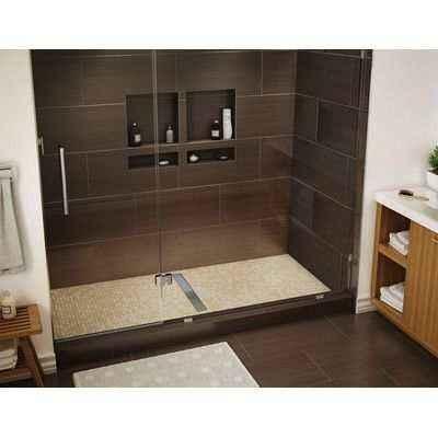 Tile Redi 60 X 34 Single Threshold Shower Base With Drain Grate