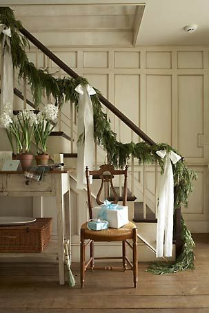 how to make natural stair garlands - Google Search