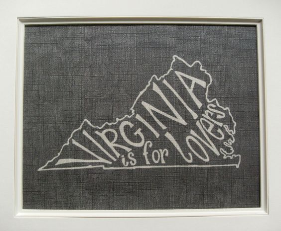 Virginia is for Lovers White on Black 8x10 by Mandipidy on Etsy, via Etsy.    WANT.