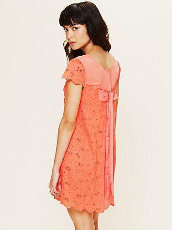 pretty pretty coral dress