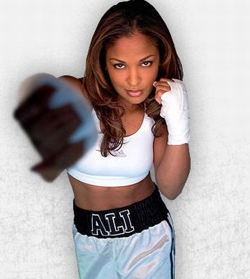 """Laila Ali, the daughter of """"The Greatest"""", boxing legend Muhammad Ali"""