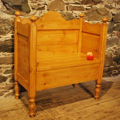 A Bench from An Antique Danish Bed, Circa 1870