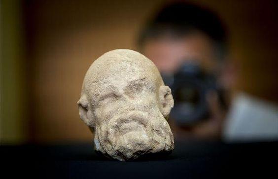Descubierta una cabeza romana de mármol en La Sagrera