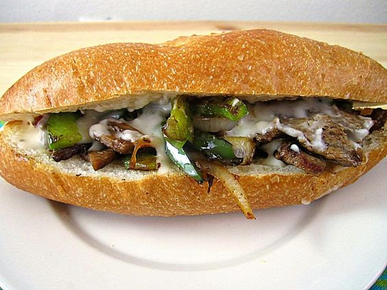 Philly Cheesesteak Sandwich - Lightened Up!