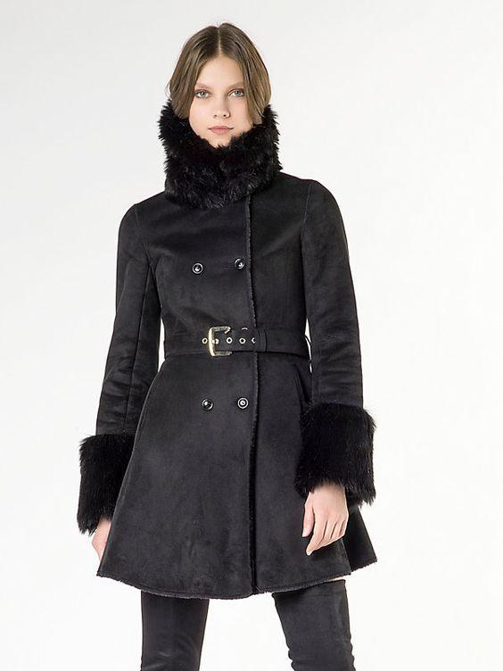Manteau en peau de mouton synthétique K103 1