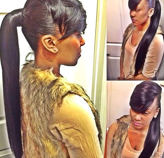 Pin By T I F F A N Y On 1 My Next Hairstyles Weave Ponytail Hairstyles Ponytail Styles Hair