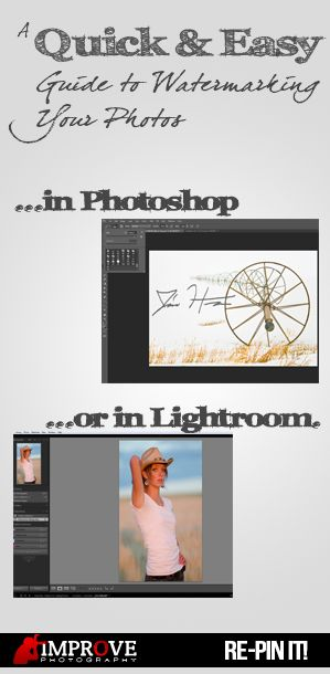 How to add a watermark to your photos in Lightroom or Photoshop, and why it is so important!