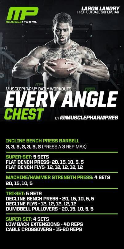Every angle chest  Muscle pharm workout
