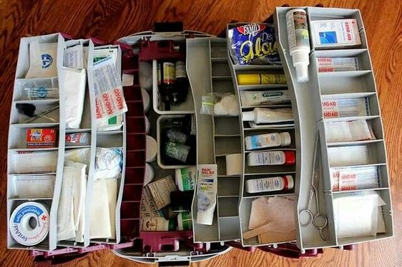 Use a tackle box for medicines