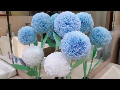 Cara Membuat Bunga Bundar Pompom Cantik Dari Tissue Gulung