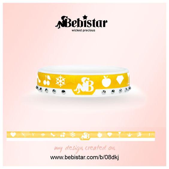 My story told on a Bebistar bracelet. Design your own on Bebistar.com