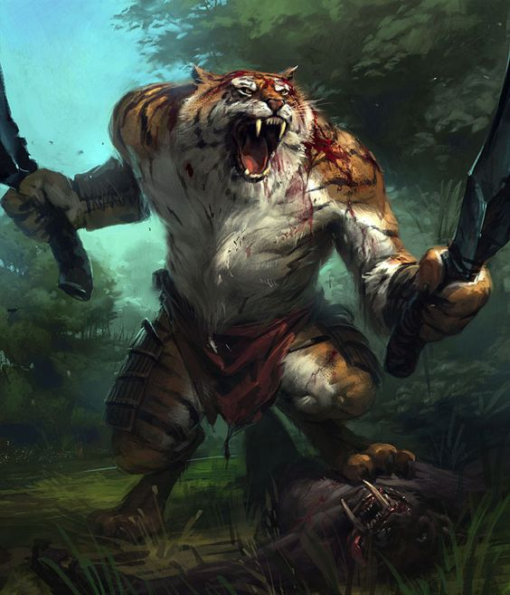 Fantasy Warrior Art  SNAFU Tiger WarriorFantasy Art by Slawomir Maniak