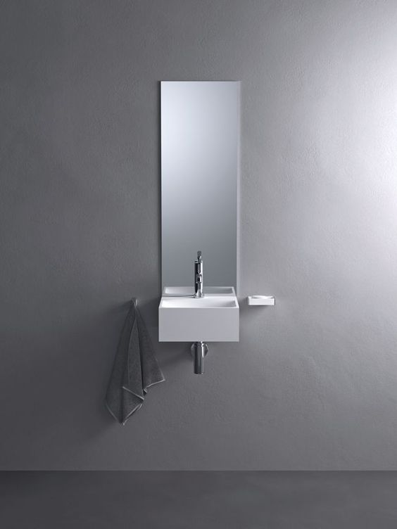 Grey walls toilet ideas and powder on pinterest for Oggetti minimal
