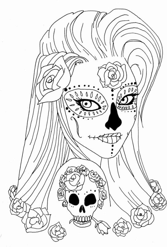 Sugar Skull Coloring Page Lovely Sugar Skull Coloring Pages Skull Coloring Pages Coloring Pages For Girls Coloring Pages