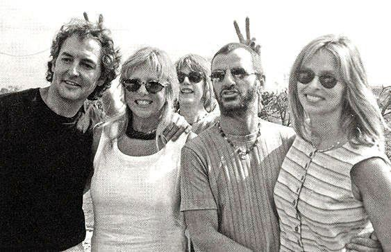 PATTIE with then partner Rod, Ringo & Jenny, her sister in background: « Beatle Photo Blog