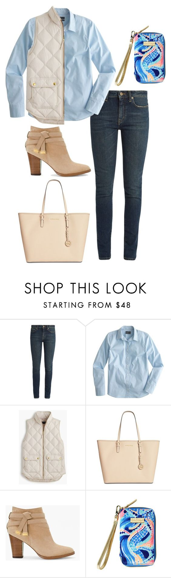 """Fall is coming - rate 1-10"" by patriotsfan101 ❤ liked on Polyvore featuring Yves Saint Laurent, J.Crew, Michael Kors, White House Black Market and Lilly Pulitzer"