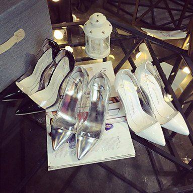 Dew Damenschuhe Kunstleder Stöckelabsatz Absätze/Spitzschuh Pumps / High Heels Kleid/Lässig Schwarz/Weiß/Silber - http://on-line-kaufen.de/dew-hohe-fersen/dew-damenschuhe-kunstleder-stoeckelabsatz-high-10