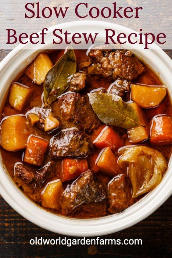 Easy Slow Cooker Beef Stew Recipe Slow Cooker Recipes Beef Stew Slow Cooker Beef Stew Beef Stew Recipe