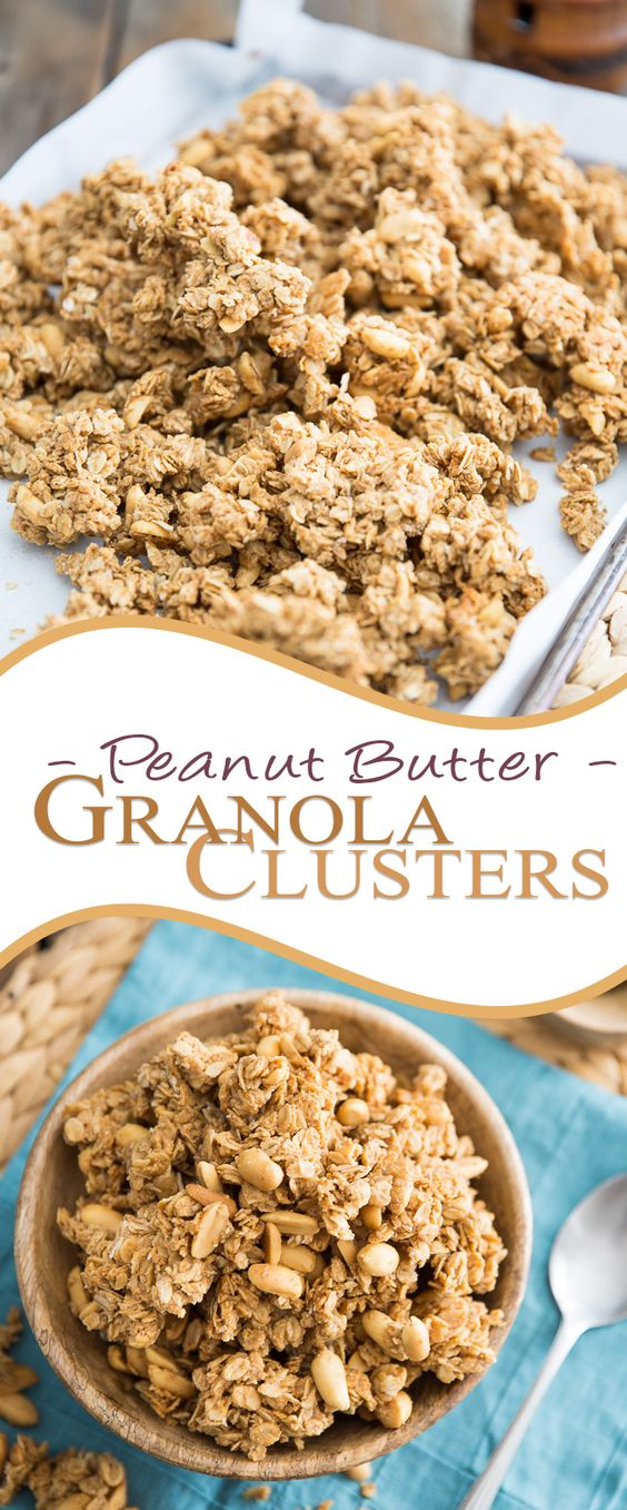 Peanut Butter Granola Clusters   thehealthyfoodie.com
