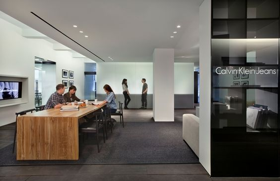 Calvin Klein Jeans Project Location New York Us Firm Gensler Office Breakout Pinterest Design Compeions
