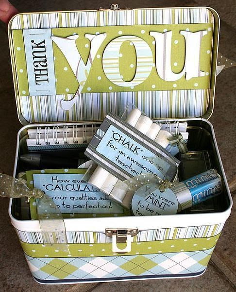 {Teacher Thank You Lunchbox Tin} - Two Peas in a Bucket