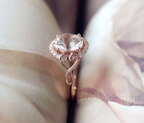 Neue Design-Weihnachts-Rabatt! 1,65 ct-Oval geschnitten 7 * 9mm Morganit Ring Halo-Diamant-Ring 14k Rotgold Ehering Morganit Verlobungsring von RobMdesign auf Etsy https://www.etsy.com/de/listing/210464786/neue-design-weihnachts-rabatt-165-ct