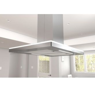 Zephyr Zlc M90bs Stainless Steel 600 Cfm 36 Inch Wide Island Range Hood With Act Technology And Led Lighting From Luce Series Island Range Hood Range Hood Island Hood