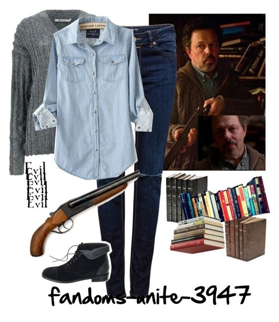 """Supernatural: Metatron"" by fandoms-unite-3947 ❤ liked on Polyvore featuring T By Alexander Wang, Decorative Leather Books, Pull&Bear, Madewell and Umbra"