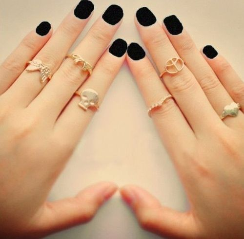 Black finger nails