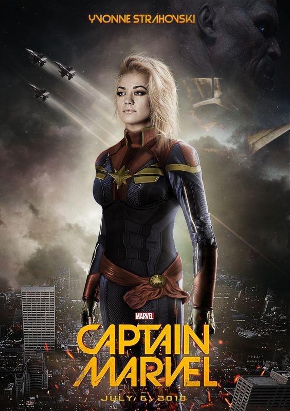 Fan art coloca Yvonne Strahovski como a Capitã Marvel | SuperVault