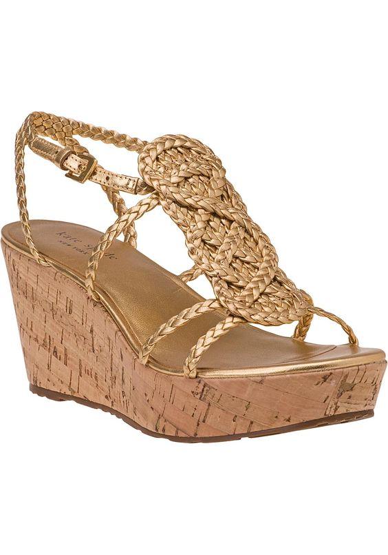 Kate Spade Beachy woven wedge sandals.