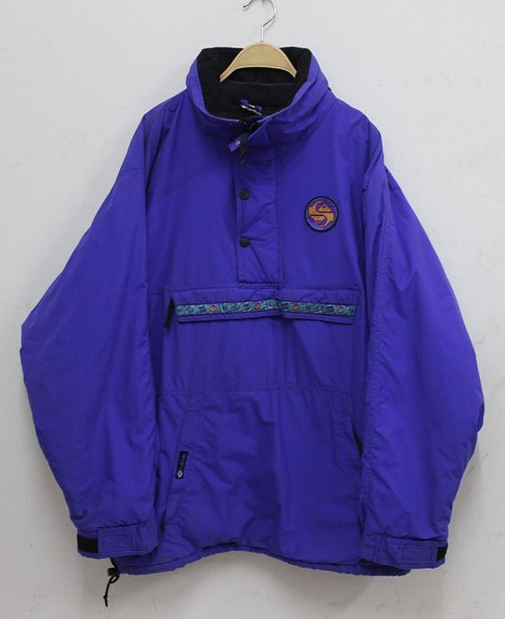 RARE Vintage années 90 Quiksilver Ski Pullover Jacket Xl Hip hop swag Made in l