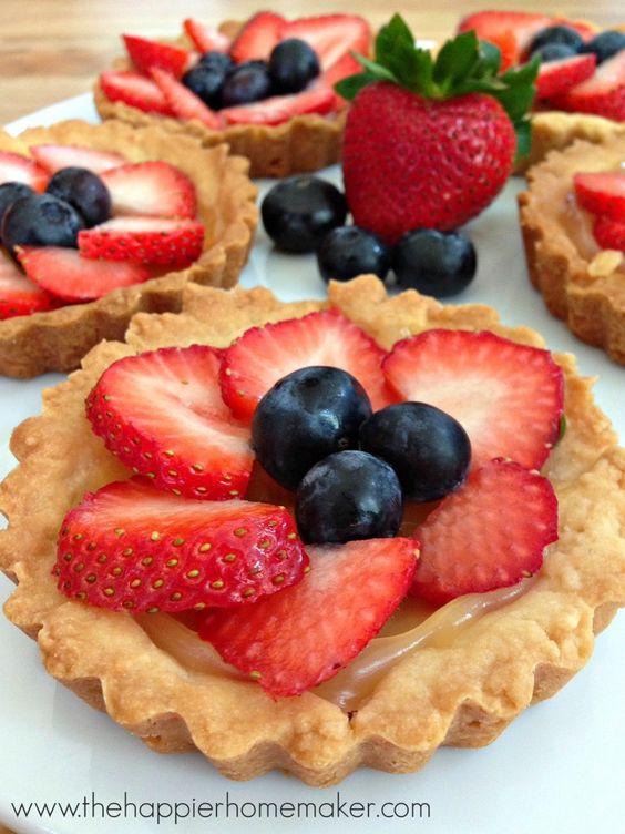 Berry Tart Recipe-I had no idea these were so easy to make!