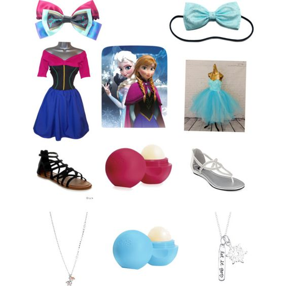 Frozen by megan-cook-i on Polyvore featuring polyvore, fashion, style, Disney, G by Guess, Disney Couture and Eos