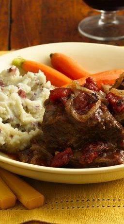 Short Ribs with Tomato-Wine Sauce | Recipe | Beef Short Ribs, Short ...