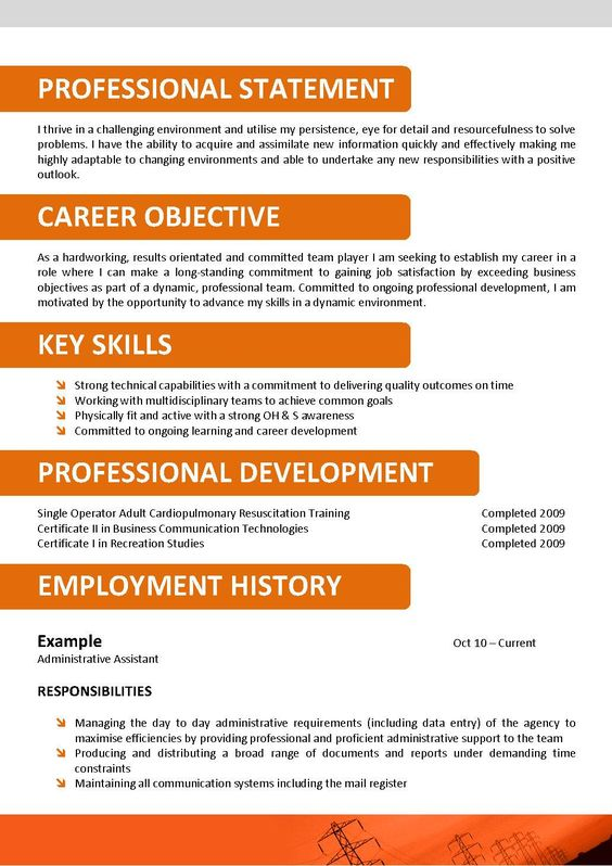 Resume, Sample resume and Customer service on Pinterest