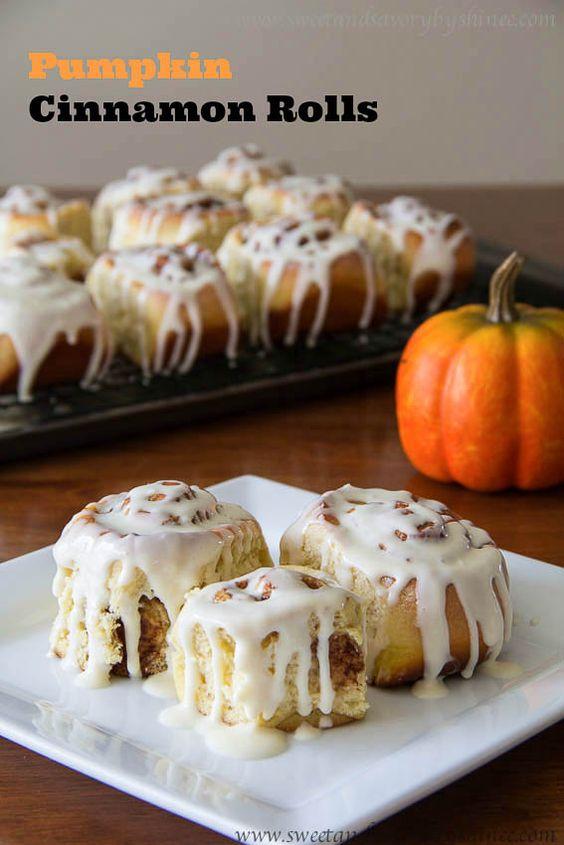 Pumpkin cinnamon rolls, Cinnamon rolls and Cinnamon on Pinterest